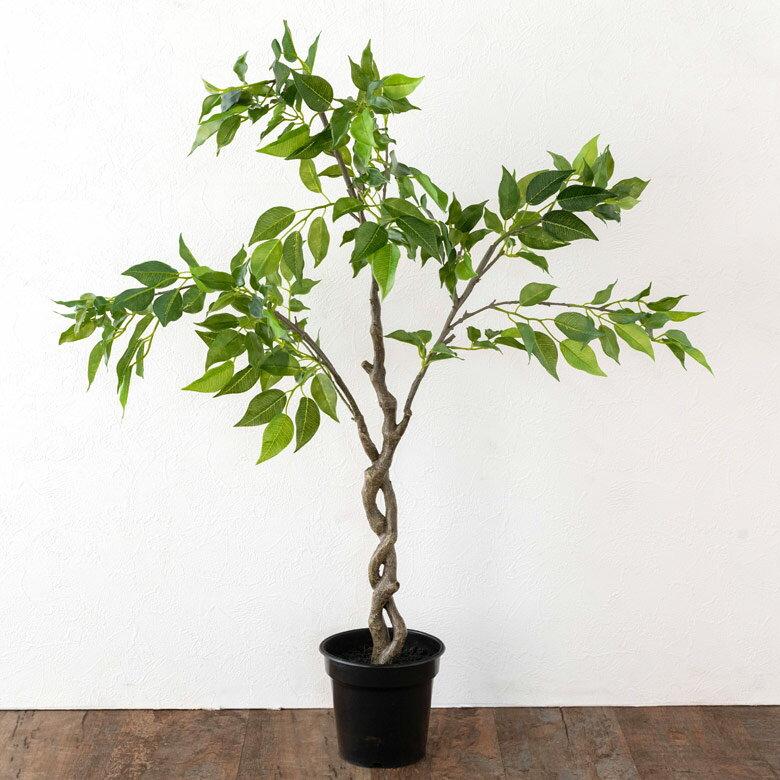 ファイカス ベンジャミン フェイクグリーン 高さ90cm 造花 観葉植物 [94137]【 フェイク アーティフィシャルプランツ グリーン ボタニカル インテリア フィカス ゴムの木 】