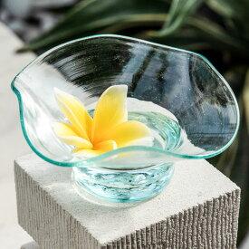 ガラスで出来たマルチに使えるデコレーショントレイ(13100)【プレート トレー ガラス びいどろ アジアン マルチ アクセサリー キャンドル 雑貨 グリーン 緑 リゾート ヴィラ おしゃれ シンプル インテリア プレゼント】