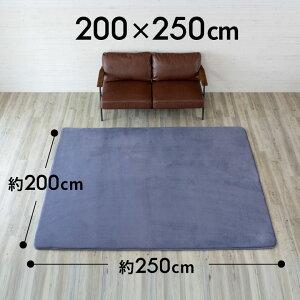 【送料無料】低反発ラグマットマイクロファイバーラグカーペット[200cmx250cm]