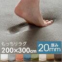 ラグマット ソフチェ[約200cm×300cm][床暖対応]【200×300 3.5畳 大きめ 高反発 フランネル カーペット ラグカーペッ…
