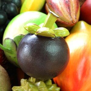 木彫りのアジアンフルーツ[マンゴスチン][10536]【本物そっくりバリ島のフルーツ 果物 果実 インテリア置物 アジアン置き物 木彫りのフルーツ 木製オブジェ カラフル フルーツオブジェ 飾り
