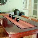バナナリーフのカラフルな アジアン テーブルランナー[オレンジ 10051]【テーブルセンター テーブルデコレーション テ…