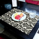 ウォーターヒヤシンスのアジアンランチョンマット[ブラック×ナチュラル][10807]【テーブルウェア テーブルマット プ…
