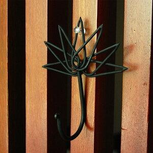 バリ島の蓮の花をモチーフにしたデコレーションフック[10885]【ハンガー おしゃれ ハス ロータス 吊り下げフック アイアンフック 壁掛けフック アジアン おしゃれ インテリア アジアン ハン