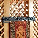 木彫りのイカットハンガー[Aタイプ][5031]【アジアン 布 壁掛け アジア布 インドネシア タペストリー バティック イン…