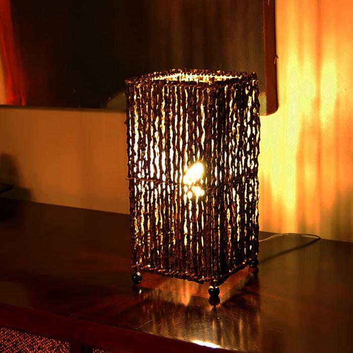アジアン照明 パームツリーランプ[コラムタイプ四角形][4032]【アジアンランプ スタンド 照明 フロアライト フロアランプ テーブルランプ 間接照明 おしゃれ 和風 バリ 雑貨 アジアン雑貨 新生活フロアスタンド 照明器具 リビング ダイニング】
