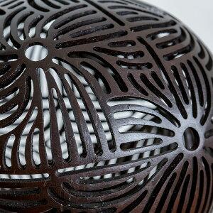 ココナッツボールランプ(フラワーモチーフ)[12730]【アジアンランプココナッツボールエスニックライトランプ照明おすすめおしゃれテーブルランプ間接照明バリ癒しアジアンリゾートアジア雑貨アジアン雑貨】