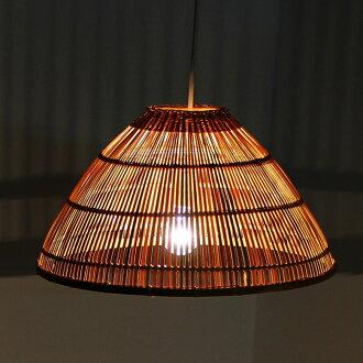 Asia kobo rakuten global market bamboo pendant lamp single bamboo pendant lamp single shade type bamboo like asian lighting umbrella hat vn50626 aloadofball Image collections