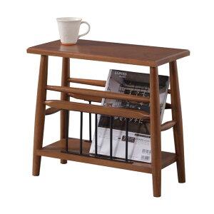 サイドテーブルソファーサイドテーブル収納付き木製幅50cm[91240]【テーブルベッドサイドテーブルマガジンラック天然木スリム収納棚北欧】