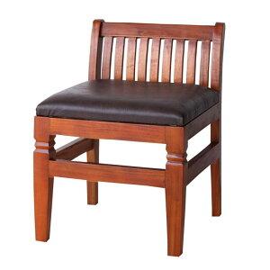 ダイニングチェア1脚アンティーク調座面クッション木製【テーブル】組立品【チェア】完成品[99058]【チェア椅子木製椅子食卓椅子アジアン家具アジアン家具おしゃれ】