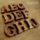 木彫りのアルファベット文字オブジェ[A〜J] [11553-A-11553-B-11553-C-11553-D-11553-E-11553-F-11553-G-11553-H-1…