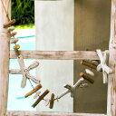 流木で出来たオーナメント (ロング)【ヒトデホワイト】(12291)【置物 飾り 壁飾り ディスプレイ インテリア置物 アジ…