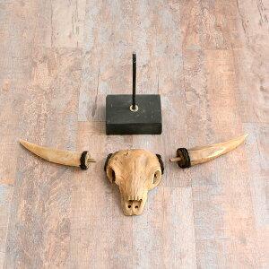 水牛の木製ハンティングトロフィー(12720)