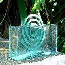 ガラスで出来たフレスコタイプの アジアン 蚊遣り[10016]【蚊取り線香入れ 蚊遣り 蚊やり かやり 蚊取り線香ケース 蚊…
