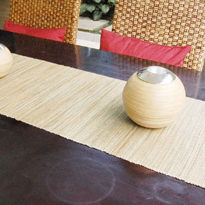 Asian Table Runner Made Of Water Hyacinth
