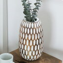 パームツリーでできたオブジェにもなるフラワーベース(12820)【花瓶 おしゃれ 花器 花入れ 一輪挿し 花入れ オブジェ …