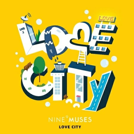 Nine Muses/ MUSES DIARY PART.3 : LOVE CITY -Repackage Mini Album (CD) 韓国盤 ナイン・ミュージス 9MUSES ミュージス・ダイアリー ラブ・シティー リパッケージ