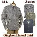 ネルシャツ メンズ / ボタンダウンシャツ チェック柄 長袖 / M-LL
