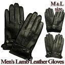 メンズ手袋 / 本革 羊革 / 高品質レザー ドレスモデル / S-LLサイズ / 2色切替 /Y