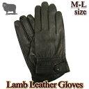 メンズ手袋 / 本革 羊革 / 高品質レザー ドレスモデル / M-Lサイズ / サイドボタン