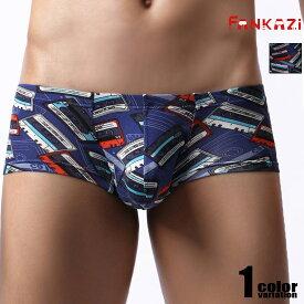 FANKAZi/ファンカジ レトロプリントショートボクサーミニボクサー タグレス ボクサーパンツ 男性下着 メンズ パンツ カセットテープ