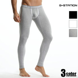 G-Station/ジーステーション カップライン付き シンプルタイツ マキシマム3D立体ポーチ ストレッチコットン タイツ メンズ メンズファッション 薄手 くるぶし丈
