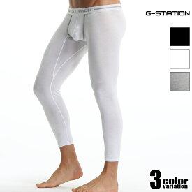 G-Station/ジーステーション カップライン付き シンプルタイツ マキシマム3D立体ポーチ ストレッチコットン タイツ メンズ メンズファッション 薄手 レギンス