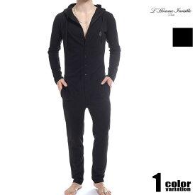 L'HommeInvisible/ロム・アンヴィジブル フード付きユニオンスーツ レスリングウェア型インナー 男性下着 メンズ パンツ ショルダーボクサーパンツ 上下一体型