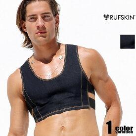 RufSkin/ラフスキン DOP デニム生地ショートタンクトップ インナーシャツ 男性下着 メンズ トップス