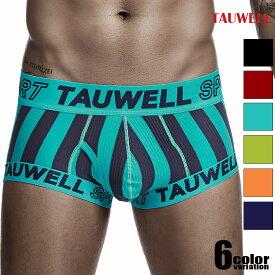 TAUWELL/タオウエール ツートンストライプ スポーティ サイドカット ボクサー 前開き ボクサーパンツ 男性下着 メンズ パンツ