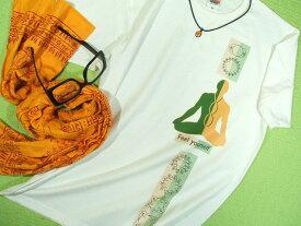ヨガ瞑想Tシャツ【サイズ:S 、M 、L 、XL 】【5000円以上で】送料無料 Tシャツ 大きいサイズ メンズ 半袖 プリントTシャツ 瞑想 チャクラ ヨガ ヨーガ YOGA ウエア ウェア Tシャツ ラッピング無料サービス