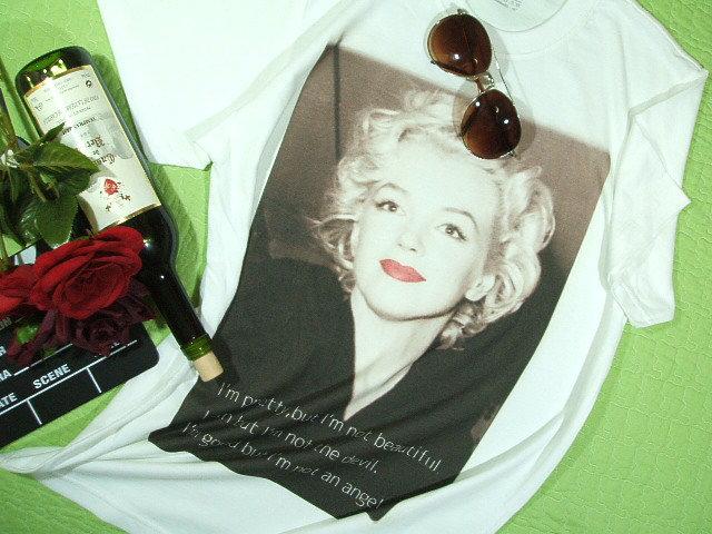 マリリンTシャツ【サイズ:S 、M 、L 、2XL 】【5000円以上で】送料無料 Tシャツ メンズ 半袖 大きいサイズのTシャツ マリリンTシャツ マリリンモンローのTシャツ Marilyn Tshirt ラッピング無料