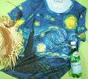 世界の絵画★ゴッホTシャツ【サイズ:女性L 】【5000円以上で】送料無料 Tシャツ レディース 女性サイズ 半袖 プリント 世界の画…