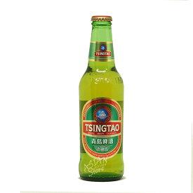 【常温便】【ビール】中国人気NO.1ビール チンタオビール瓶/青島ビール330ml瓶【6901035609333】