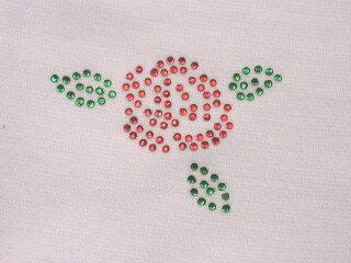 アイロン デコシート 1061 バラ 薔薇 小 アップリケ アイロン ラインストーン 【激安】【格安】簡単 デコ アレンジ オリジナル プチデコ リメイク