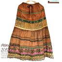 モン族 スカート モン族スカート ロングスカート 民族衣装 大きめ ロング 民族 衣装 大きめサイズ ギャザー2way ネイティブ柄 フレアス…
