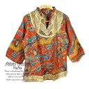 エスニックトップス チュニック 七分袖 レディース コットン ミディアム ふんわりアジアントップス 民族衣装 エスニックファッション …