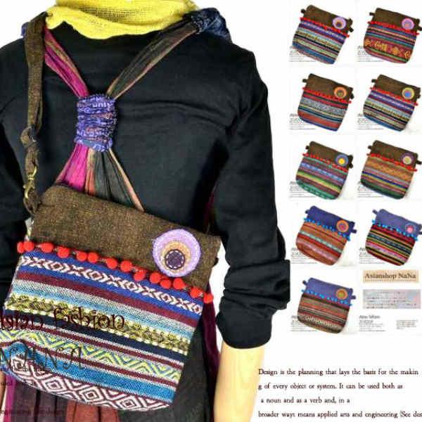 エスニック バッグ サコッシュ かばん 鞄 カバン BAG 民族衣装 ショルダーバッグ レディース ジャガード ボディーバッグ ショルダー バッグ ゲリ柄 斜めがけ 斜め掛け 軽くて丈夫 アジアン雑貨 男女兼用 ペアバッグ