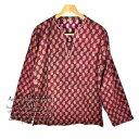 ブラウス 柄物 長袖 Mitra ミッタラー レディース 大きめサイズ 綿 Lサイズ ミディアムエスニック アジアン レディースファッション