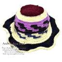 ニット帽 UVカット インディアン 帽子 編み物アジアン雑貨 エスニック雑貨 エスニックアジアンオリジナル お出掛け ファッション 個性…