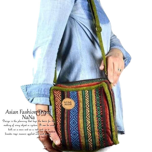バッグ かばん 鞄 カバン BAG 民族衣装 個性的 ショルダーバッグ レディース ladies ボディーバック shoulder bag ショルダー 男女兼用 斜めがけ 小さいのに大容量。