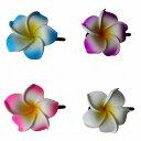 プルメリア 花のヘアピン Lサイズ 4CLORS 【メール便OK】