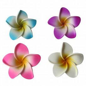 フローティングフラワー プルメリアの造花 ウレタン製7cm ピンク、ホワイト、ブルー、パープル 【メール便OK】