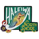 HALEIWA NORTH SHORE木彫りのハワイアンサインボードWoman 56X40