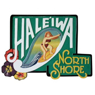 HALEIWA NORTH SHORE木刻的夏威夷人签名板Women 56X40