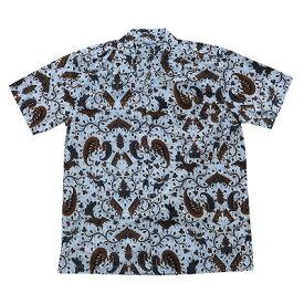 バティックシャツ 半袖シャツ コットン  150106【メール便】