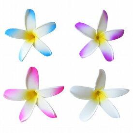 フローティングフラワー プルメリアの造花 ウレタン製 7cm スリム レッド、ホワイト、ブルー、パープル