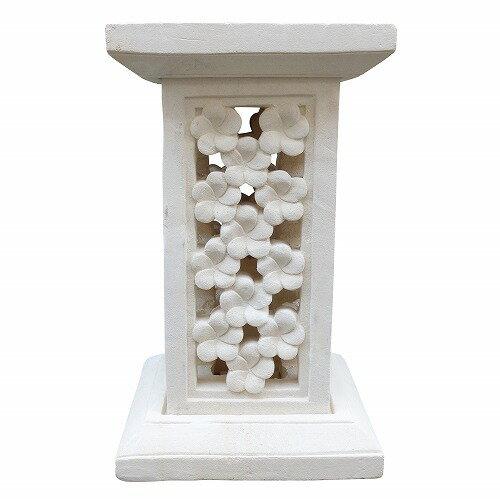 プルメリア石像スタンド 30X30 【アウトレット】【返品不可】
