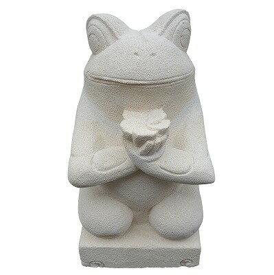 カエルの石像 Lサイズ 24cm パラスストーン 【アウトレット】【返品不可】