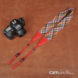 【CAM in】超おしゃれ 一眼レフ ミラーレス一眼レフ用 民族風 カメラネックストラップ 編込み デザイン ヨーロッパ風 モザイクデザイン【cam8676-2】カメラ女子に【クリスマスプレゼントに最適】